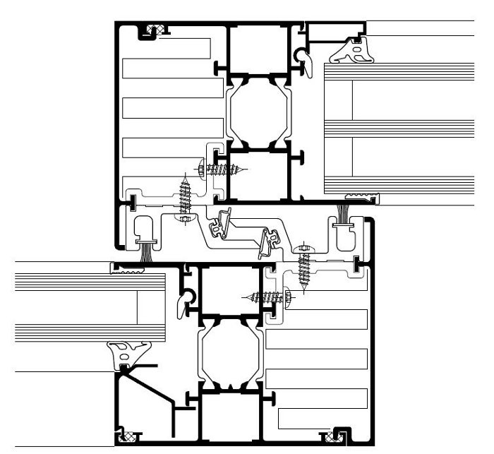 CAD DETAILS : ALUMINIUM FRAMES - SHOP FRONTS - SLIDING DOOR PANELS