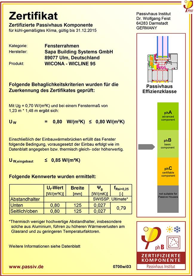 wicline 95 h chste energieeffizienz auf passivhaus niveau wicona de. Black Bedroom Furniture Sets. Home Design Ideas