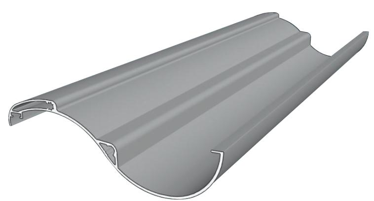 Ombrière aluminium lame courbée WICONA