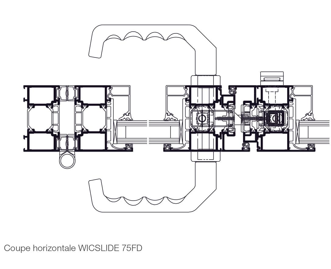 Plan Porte À Galandage porte repliable en aluminium wicslide 75fd l wicona france