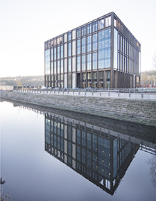 External shot of Kirkstall Forge from across the river - WICONA Project